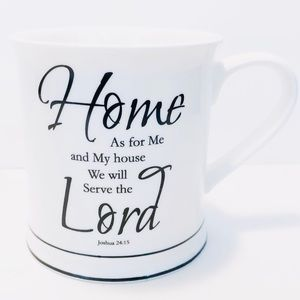 "HOME ESSENTIALS ""As For Me & My House"" Coffee Mug"